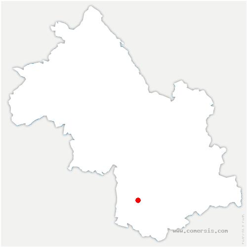 carte de localisation de Saint-Paul-lès-Monestier