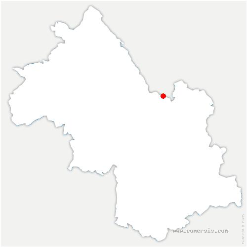 carte de localisation de Saint-Pierre-d'Entremont