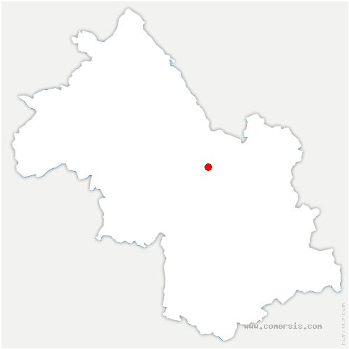 carte de localisation de Saint-Pierre-de-Chartreuse