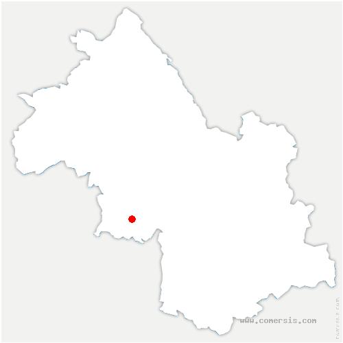 carte de localisation de Saint-Pierre-de-Chérennes