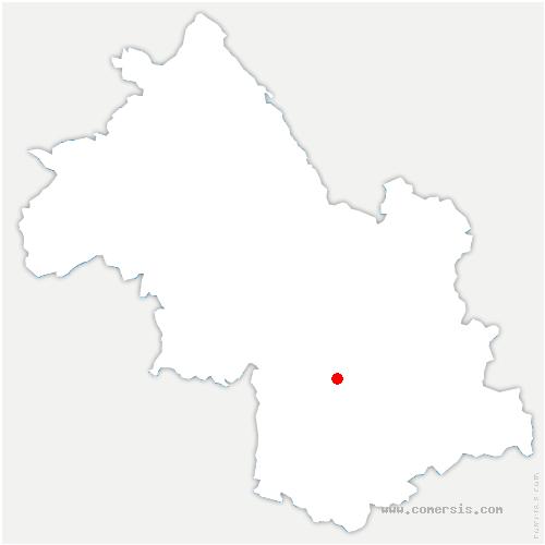 carte de localisation de Saint-Pierre-de-Mésage