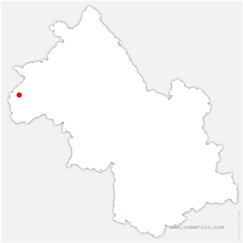 carte de localisation de Saint-Prim