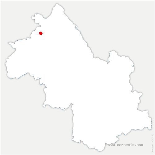 carte de localisation de Saint-Quentin-Fallavier