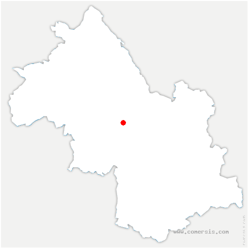 carte de localisation de Saint-Quentin-sur-Isère