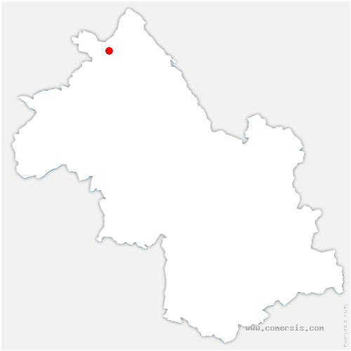 carte de localisation de Saint-Romain-de-Jalionas