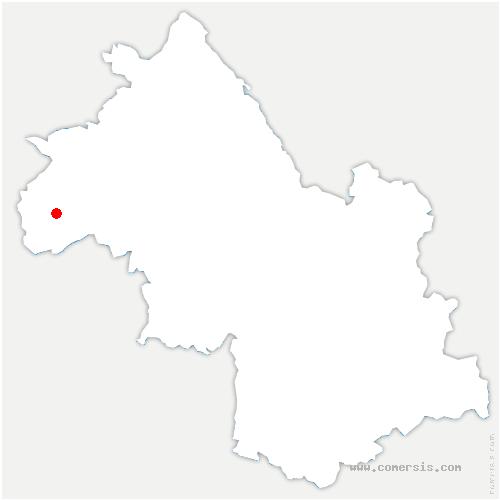 carte de localisation de Saint-Romain-de-Surieu