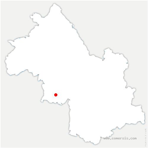 carte de localisation de Saint-Sauveur