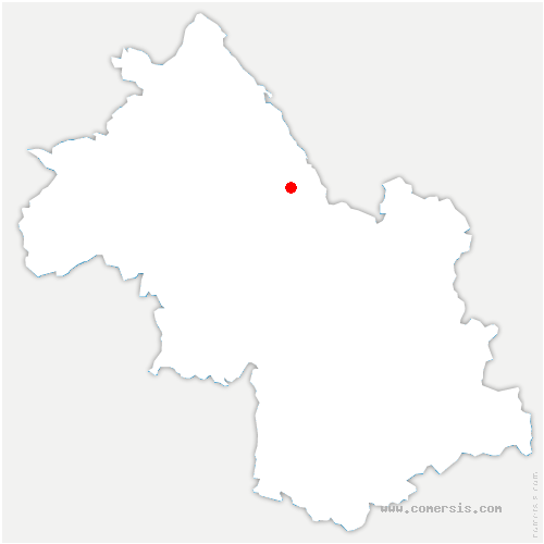 carte de localisation de Saint-Sulpice-des-Rivoires