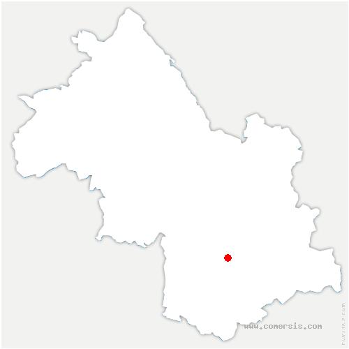 carte de localisation de Saint-Théoffrey