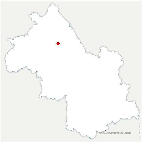 carte de localisation de Saint-Victor-de-Cessieu