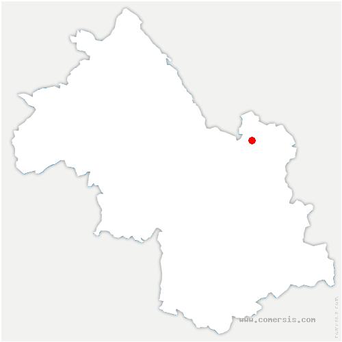 carte de localisation de Saint-Vincent-de-Mercuze
