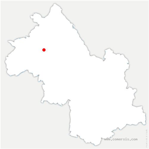 carte de localisation de Sainte-Anne-sur-Gervonde