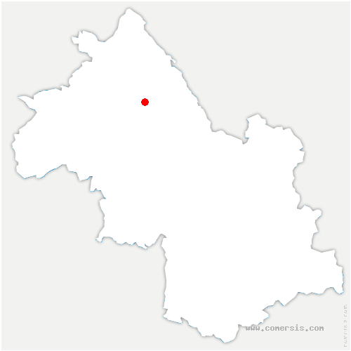 carte de localisation de Sainte-Blandine