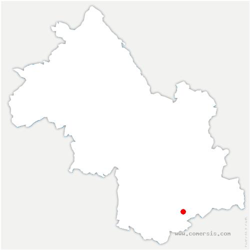 carte de localisation de Sainte-Luce