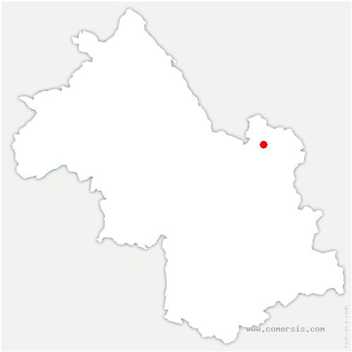 carte de localisation de Sainte-Marie-d'Alloix