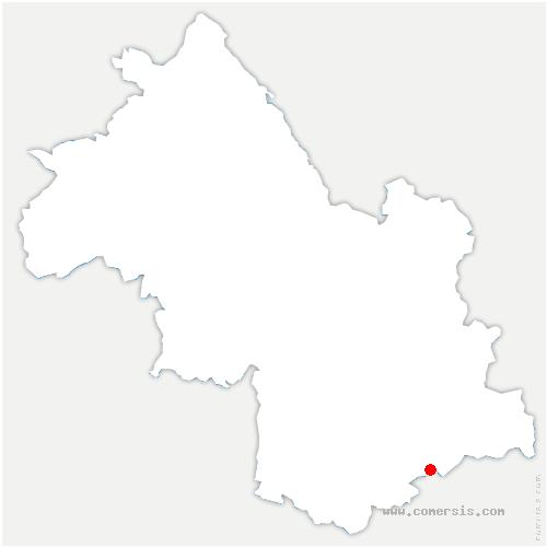 carte de localisation de Salette-Fallavaux