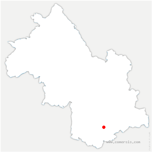 carte de localisation de Salle-en-Beaumont