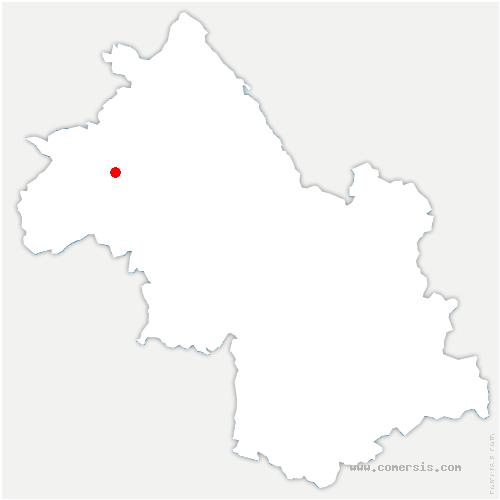 carte de localisation de Savas-Mépin
