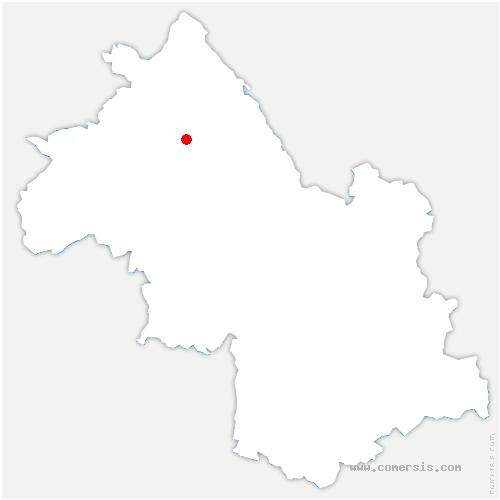 carte de localisation de Sérézin-de-la-Tour