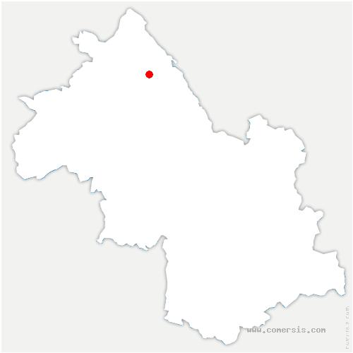 carte de localisation de Sermérieu