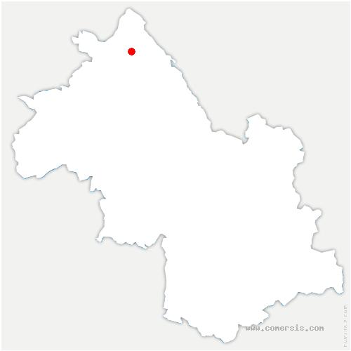 carte de localisation de Siccieu-Saint-Julien-et-Carisieu