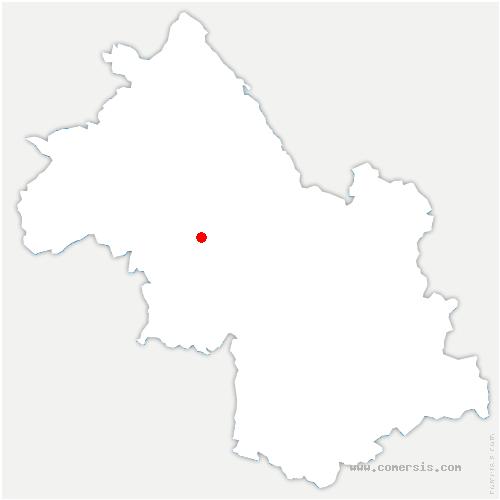 carte de localisation de Sillans