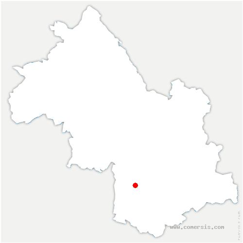 carte de localisation de Sinard