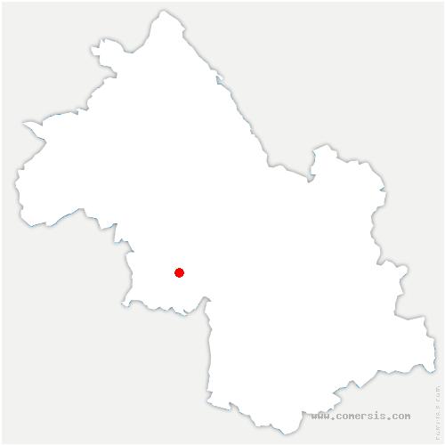 carte de localisation de Têche