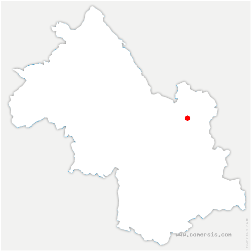 carte de localisation de Tencin