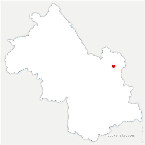 carte de localisation de Theys