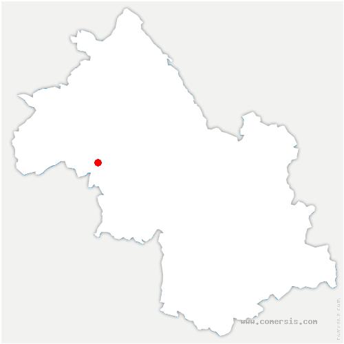 carte de localisation de Thodure