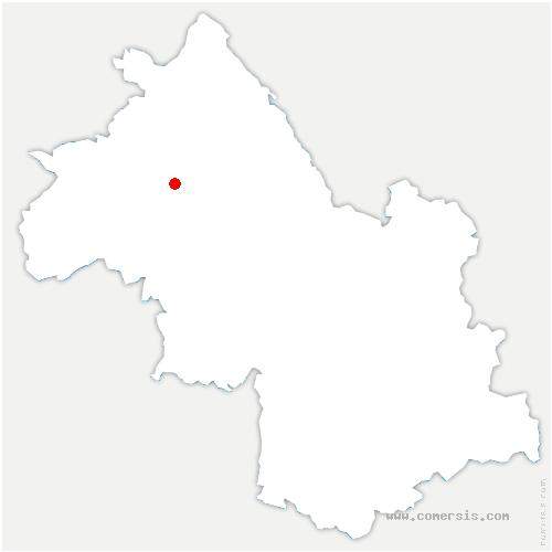 carte de localisation de Tramolé