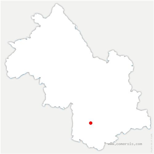 carte de localisation de Treffort
