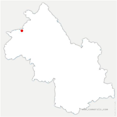 carte de localisation de Valencin