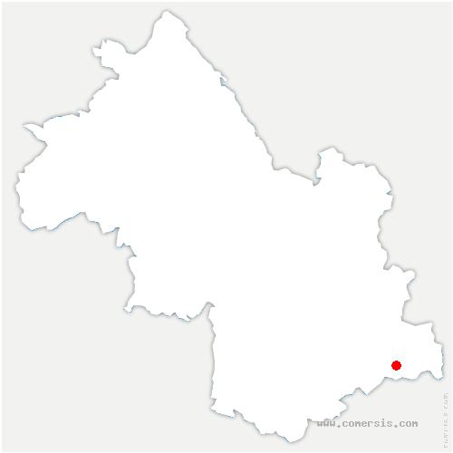 carte de localisation de Valjouffrey