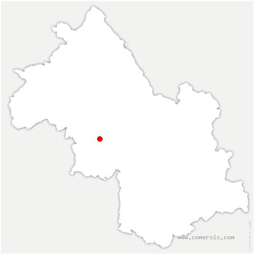 carte de localisation de Varacieux