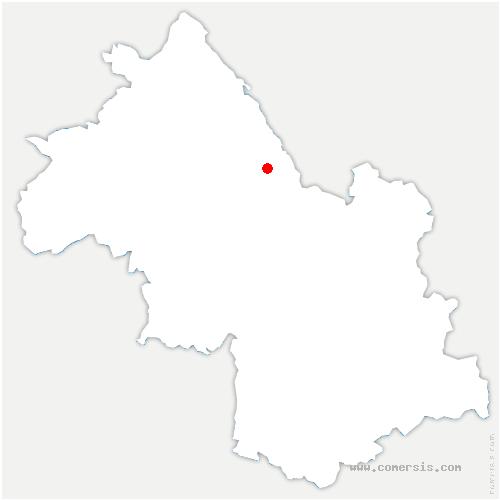 carte de localisation de Velanne