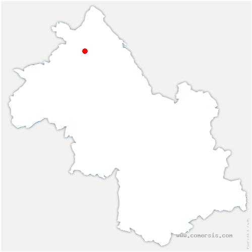 carte de localisation de Vénérieu