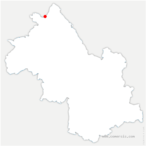 carte de localisation de Vernas