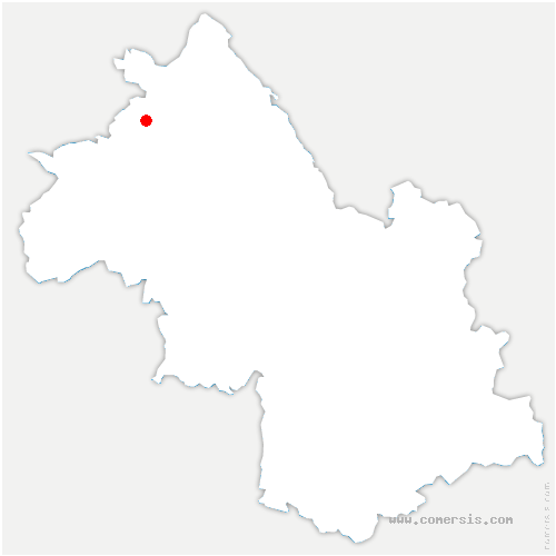 carte de localisation de Verpillière