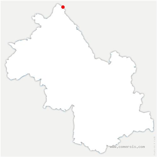carte de localisation de Vertrieu