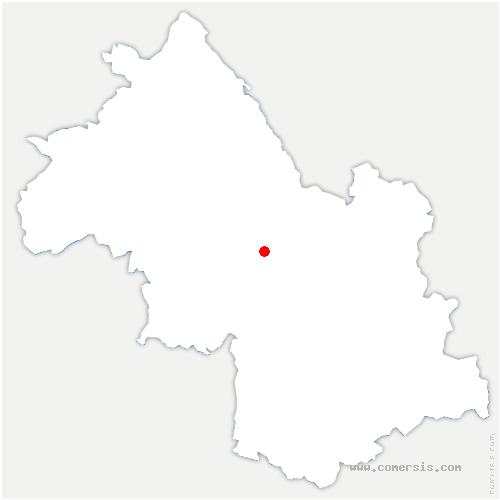 carte de localisation de Veurey-Voroize