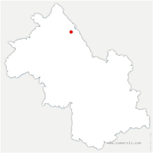 carte de localisation de Vézeronce-Curtin