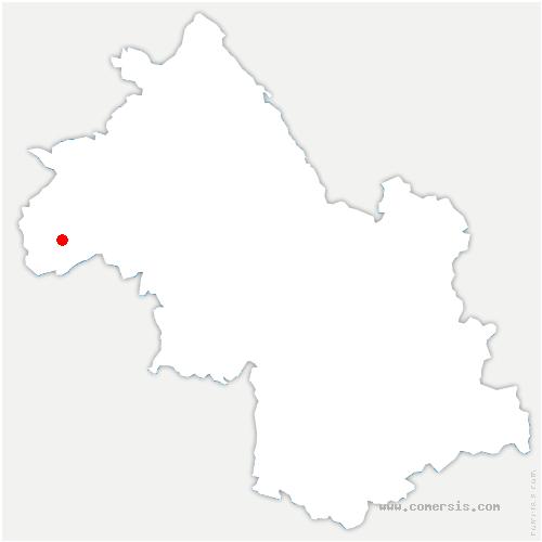 carte de localisation de Ville-sous-Anjou
