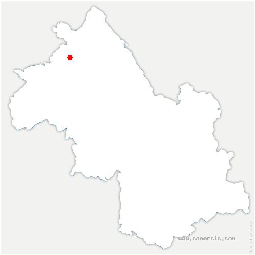 carte de localisation de Villefontaine