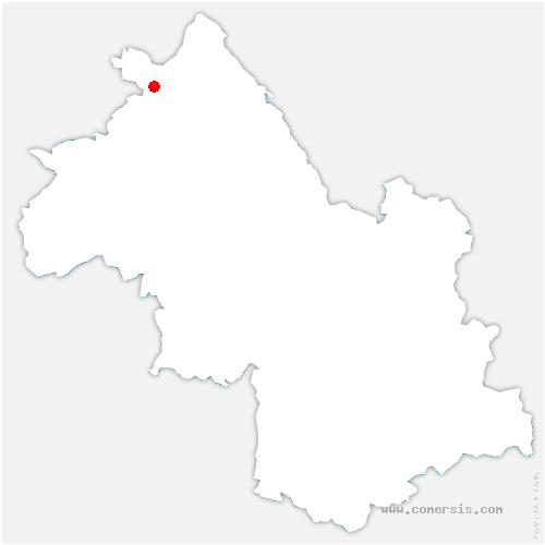 carte de localisation de Villemoirieu
