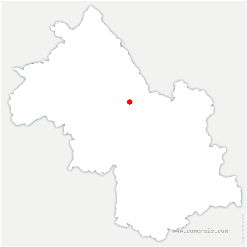 carte de localisation de Voiron