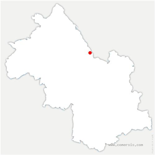 carte de localisation de Voissant