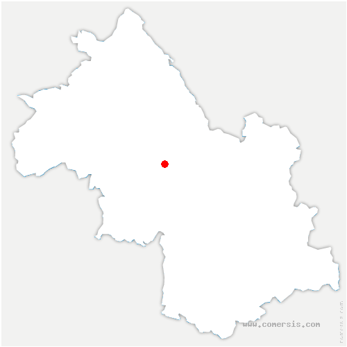 carte de localisation de Vourey
