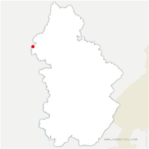 carte de localisation de Annoire